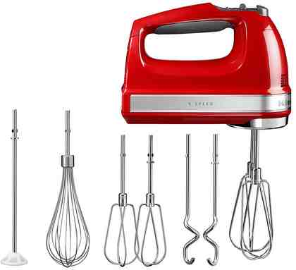 KitchenAid Handmixer 5KHM9212EER, 85 W, 85 Watt, 9 Stufen