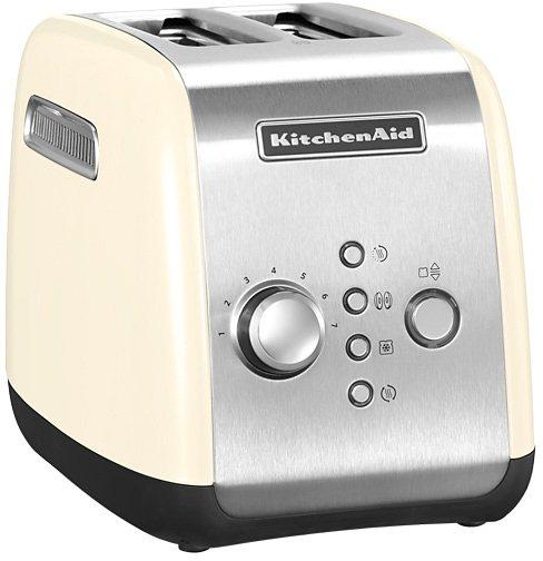 KitchenAid Toaster 5KMT221EAC, 2 kurze Schlitze, für 2 Scheiben, 1100 W, mit Brötchenaufsatz und Sandwichzange