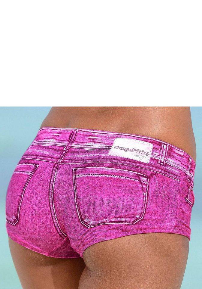 Bademode - KangaROOS Bikini Hotpants »Patty«, in angesagter Jeans Optik › rosa  - Onlineshop OTTO