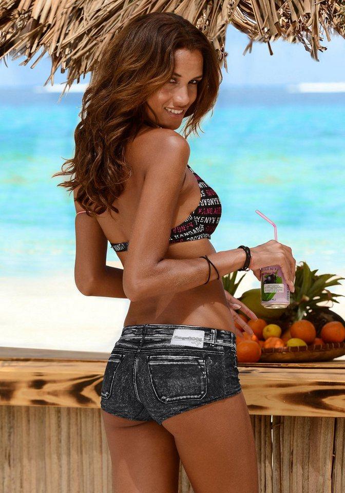 Bademode - KangaROOS Bikini Hotpants »Patty«, in angesagter Jeans Optik › schwarz  - Onlineshop OTTO