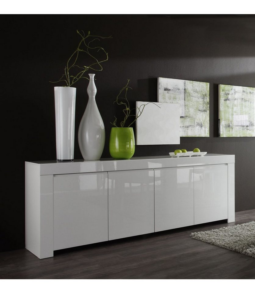LC Sideboard, Breite 210 cm in weiß