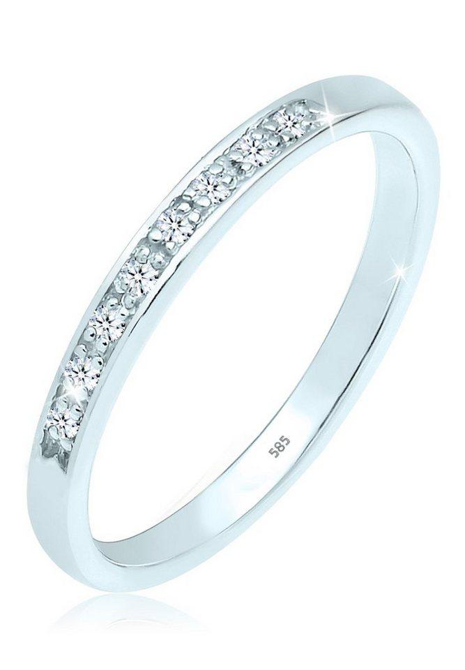 DIAMORE Ring »Verlobungsring Diamant 0.08 ct. 585 Weißgold« in Weiß