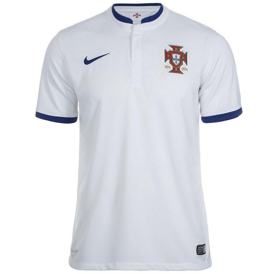 NIKE Portugal Trikot Away Stadium WM 2014 Herren in weiß / blau