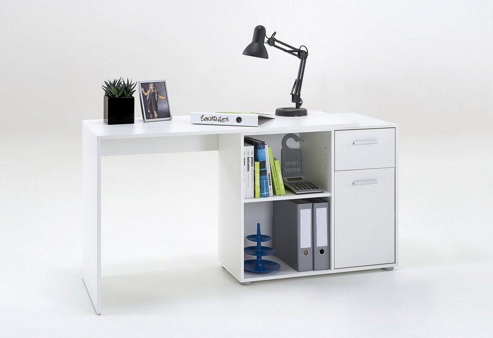 Eck-Schreibtisch »ALBRECHT« in weiß