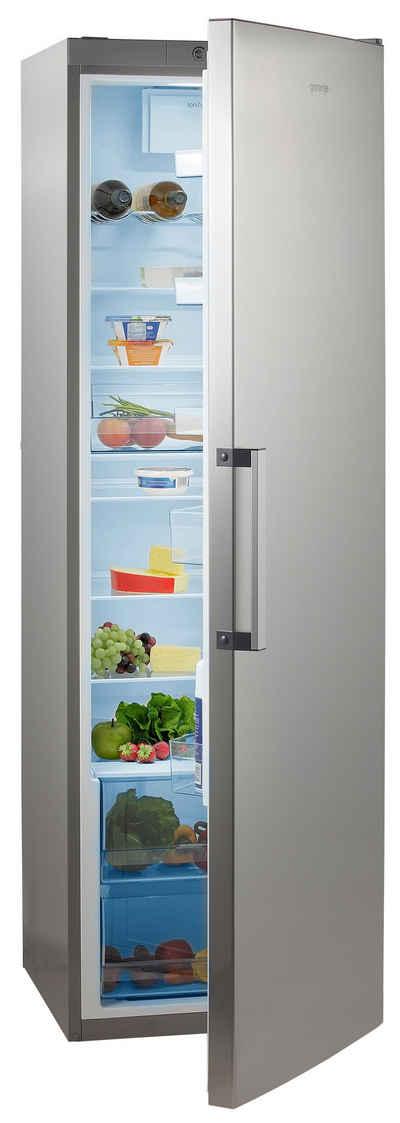 GORENJE Vollraumkühlschrank R6192FX, 185 cm hoch, 60 cm breit, 185 cm hoch, FreshZone-Schublade, Großraum!