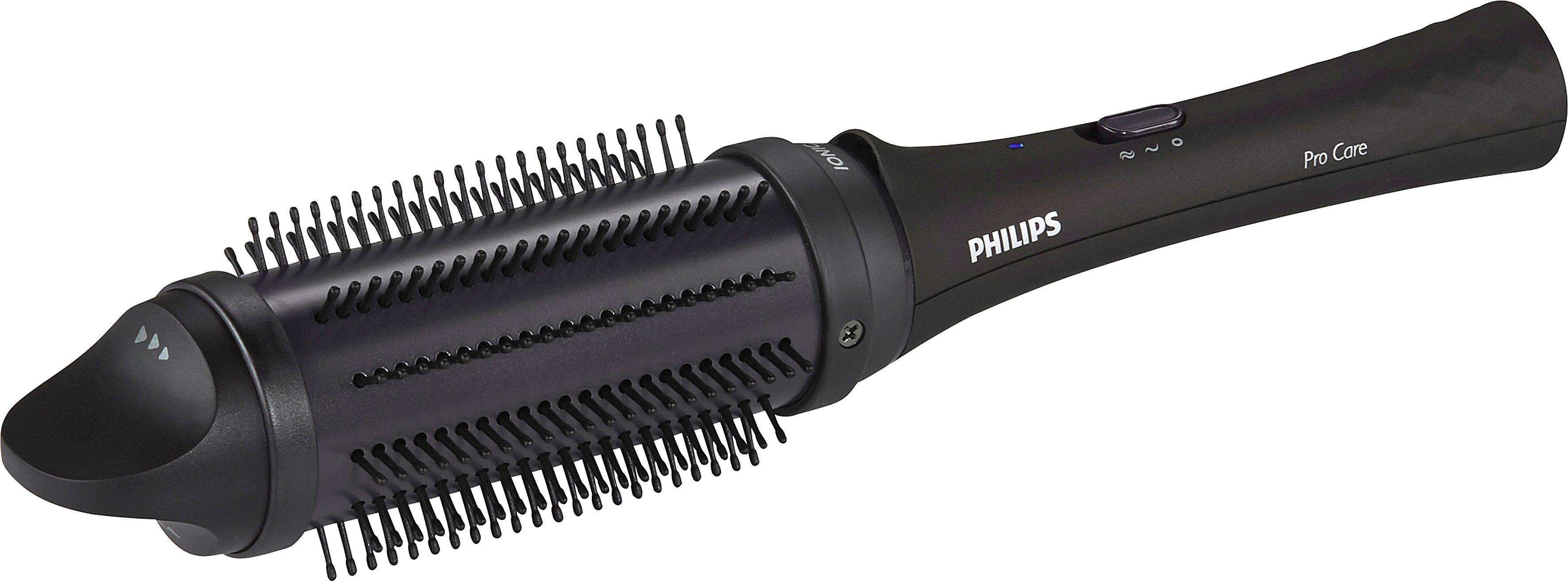 Philips Stylingbürste HP8634/00 ProCare, einziehbare Bürsten, lila/schwarz