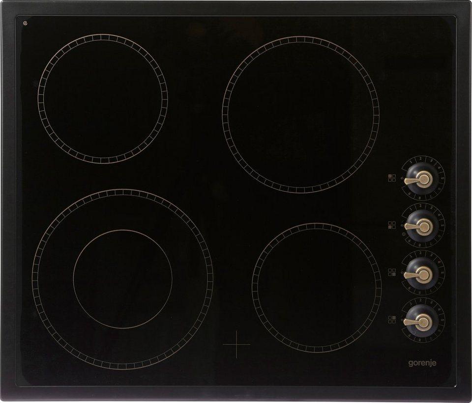 Gorenje Classico Glaskeramik-Kochfeld ECK 63 CLB in schwarz