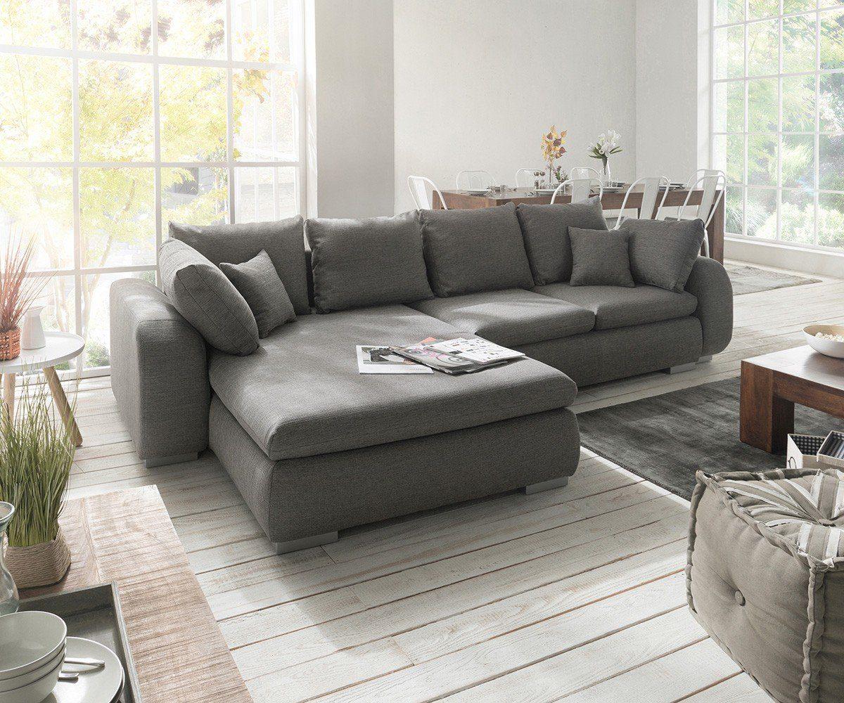 DELIFE Couch Maxie Grau 330x178 cm Schlaffunktion