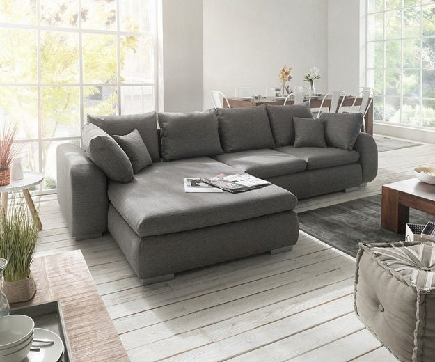 delife couch maxie grau 330x178 cm schlaffunktion otto. Black Bedroom Furniture Sets. Home Design Ideas