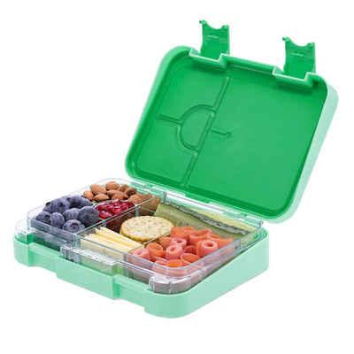Navaris Lunchbox, Kunststoff, (1-tlg), Bento Box Brotdose Vesperbox - auslaufsicher mit variablen Fächern - herausnehmbare Innenschale - für Jungs und Mädchen
