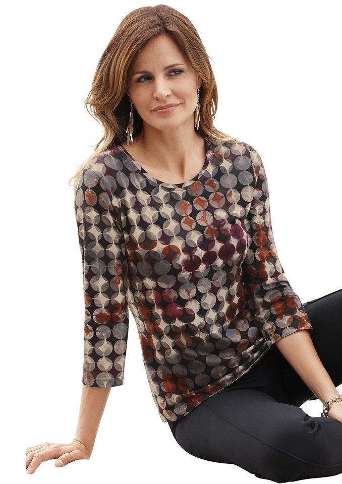 Alessa W. Shirt mit 3/4-Ärmel in rost-bedruckt