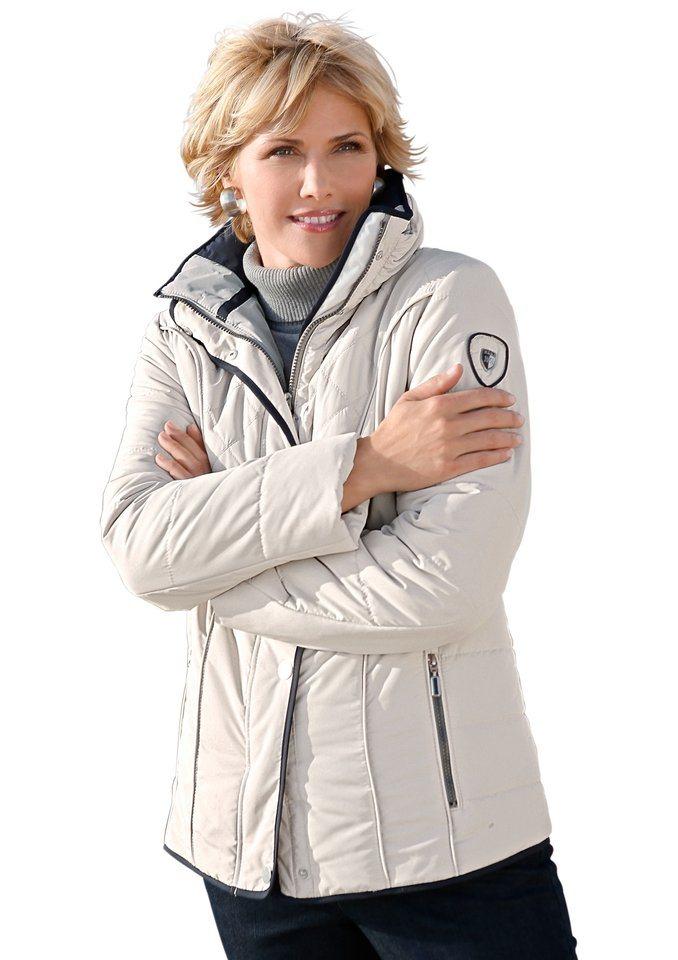 Wega Fashion WEGA FASHION Diese Jacke aus pflegeleichter Microfaser hat viel zu bieten in stein