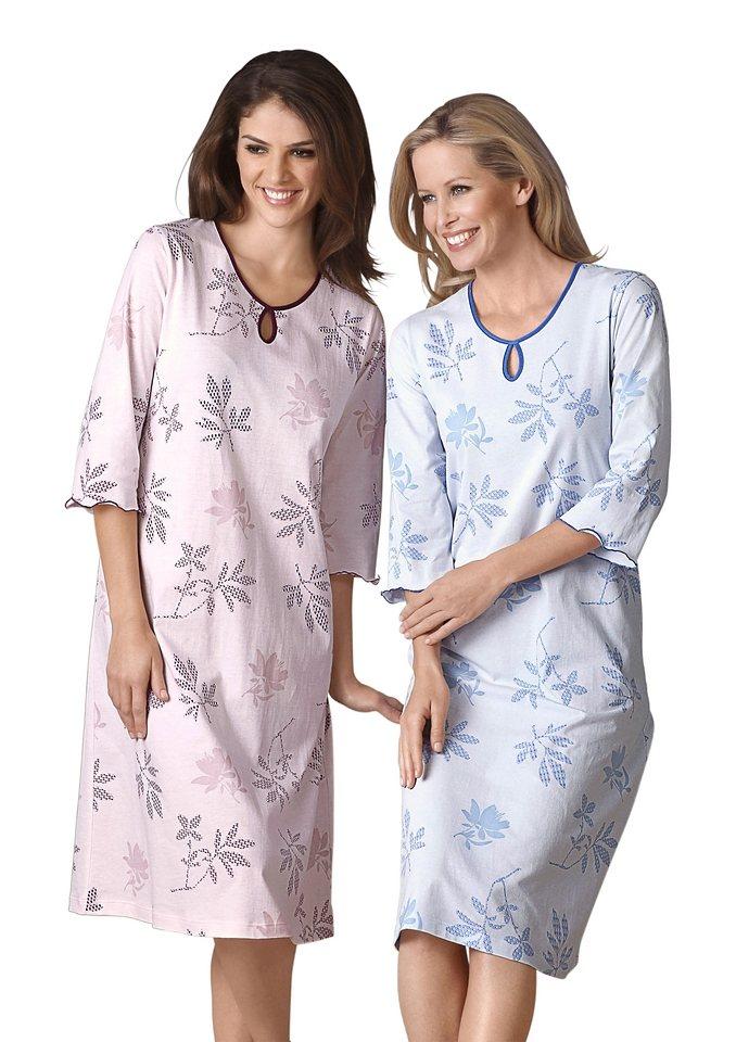 Set: Nachthemden (2 Stck.) in bleu + rose