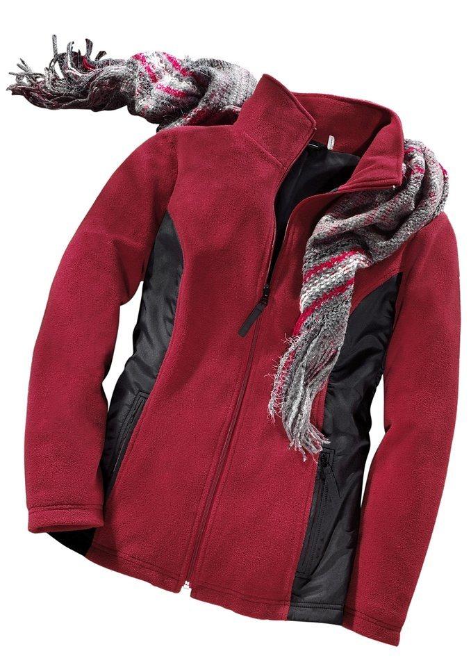 Schal in grau-rot