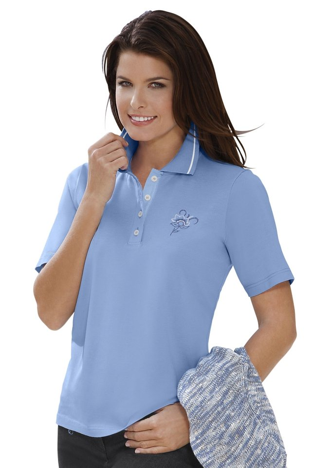 Collection L. Poloshirt in hellblau