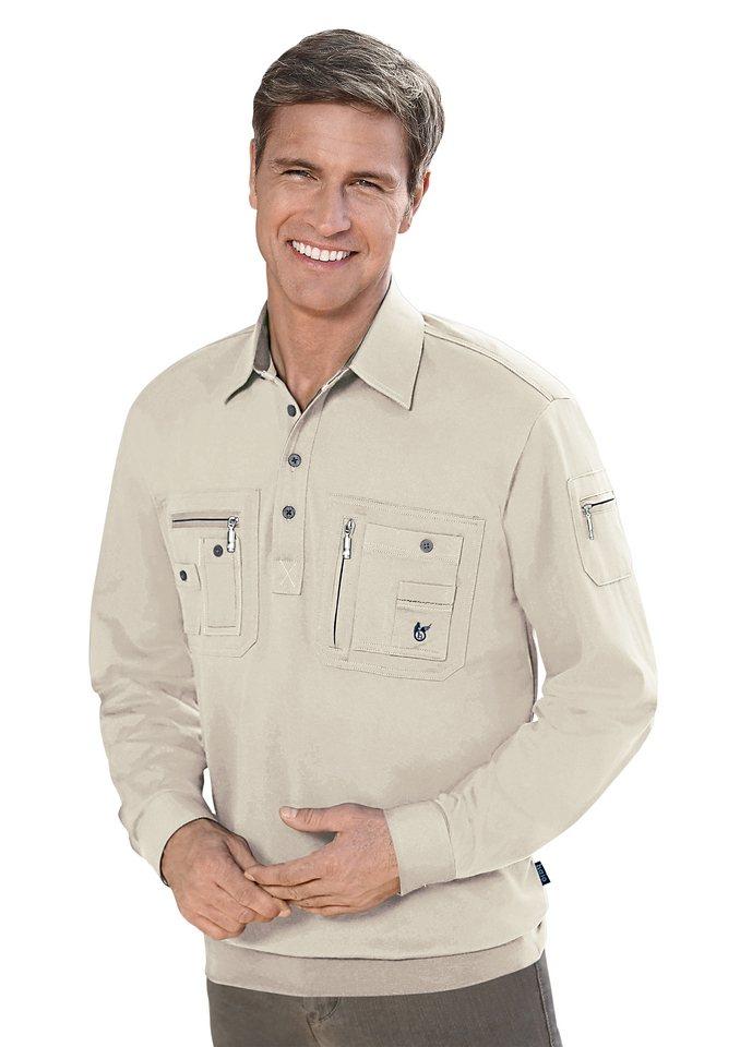 Hajo Poloshirt mit feuchtigkeitsregulierender Eigenschaft in kitt