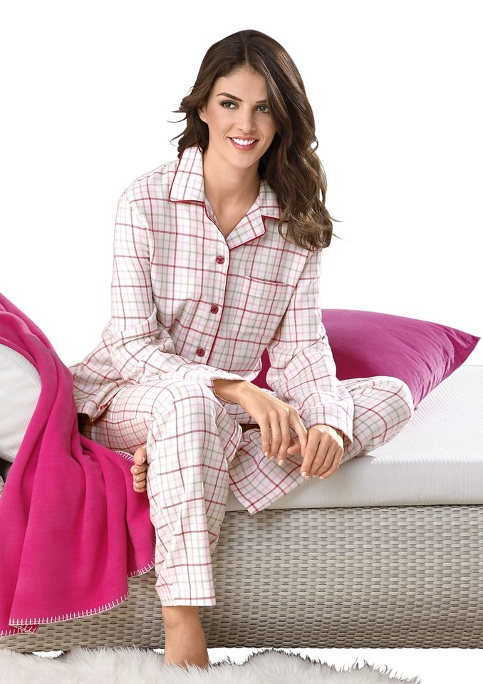 Schlafanzug, Rosalie in weiß-rosé