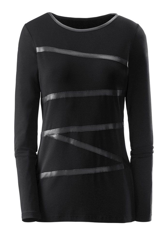 Ambria Shirt mit langen Ärmeln in schwarz