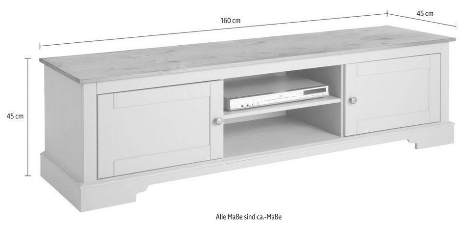 Lowboard, Home affaire, »Meret«, Breite 160 cm in gelaugt/geölt