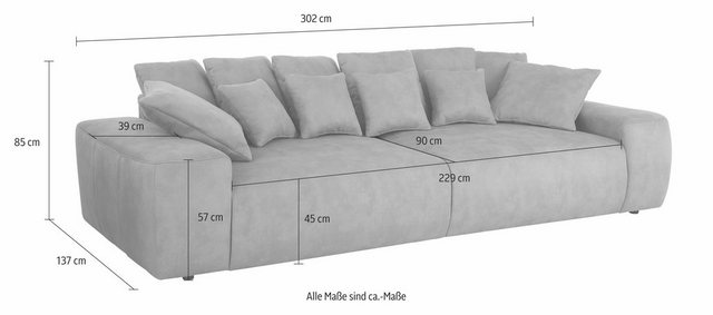 Sofas - Home affaire Big Sofa, Breite 302 cm  - Onlineshop OTTO