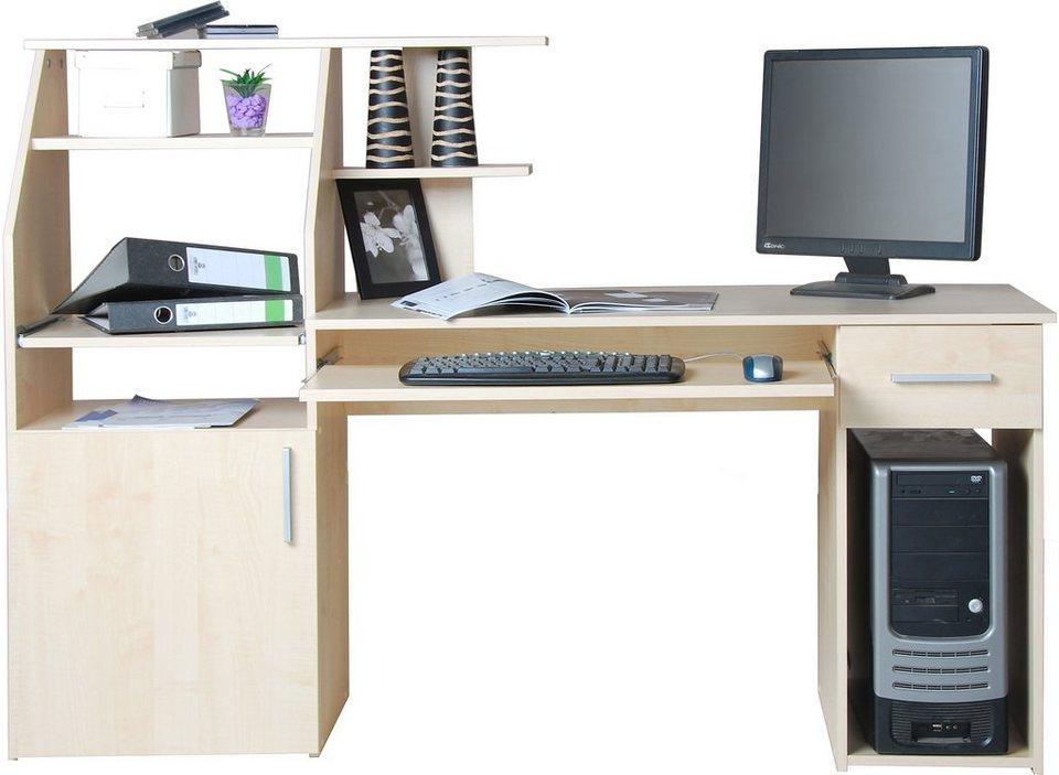 Pc schreibtisch don mit tastaturauszug kaufen otto for Schreibtisch mit druckerfach
