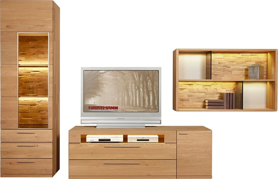hartmann wohnwand viva 3 tlg online kaufen otto. Black Bedroom Furniture Sets. Home Design Ideas