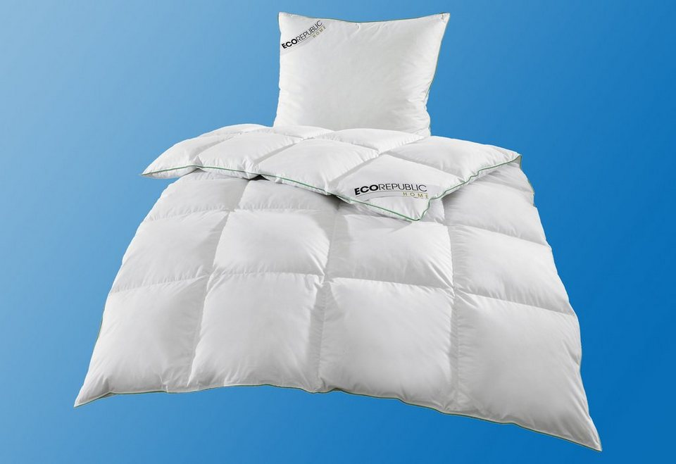 Set: Feder-/Daunenbettdecken + Kopfkissen, »Lyocell (TENCEL®)«, Ecorepublic Home, Warm