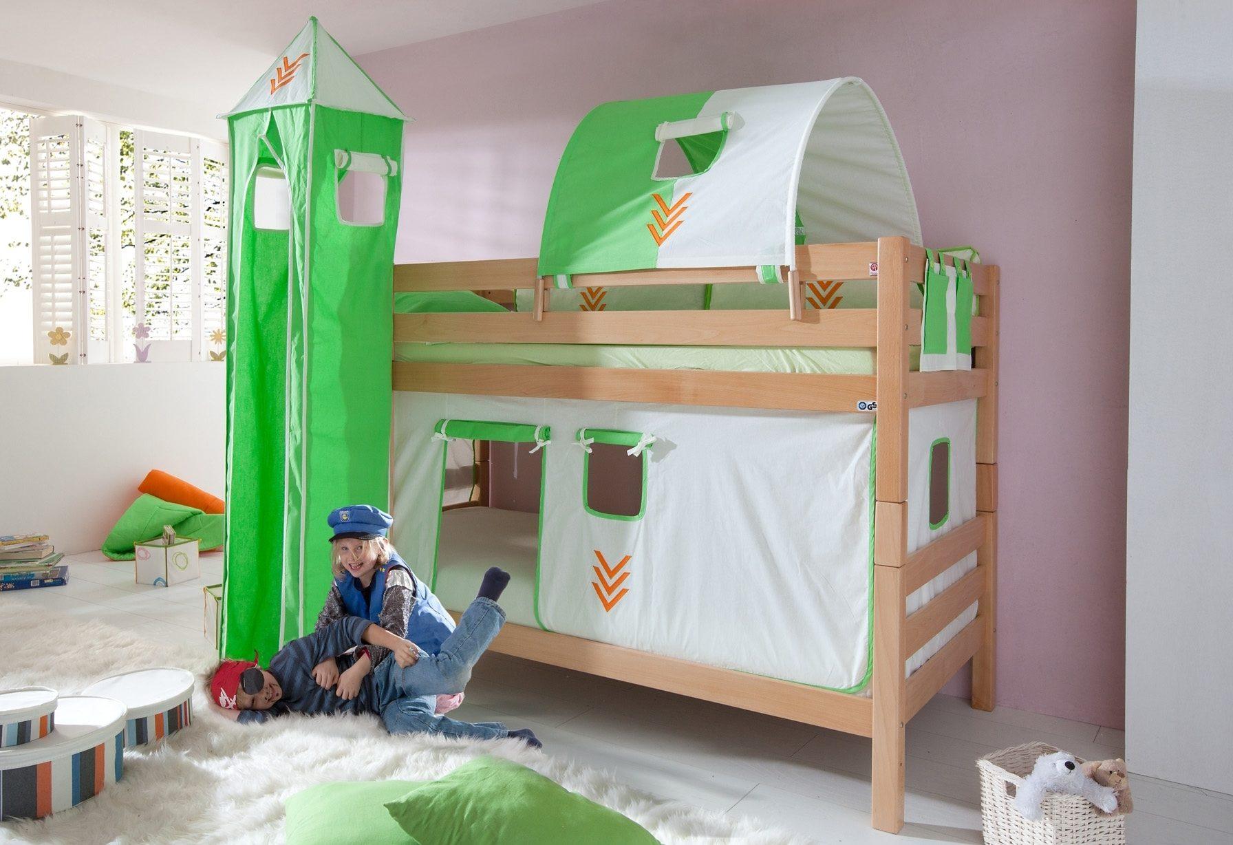 Etagenbett Relita : Relita vorhang set für hoch und etagenbetten mit turm günstig