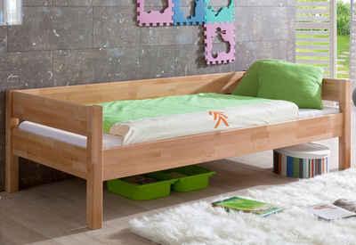 Einzelbett weiß holz  Massivholzbetten kaufen » Holzbetten Buche, Eiche   OTTO
