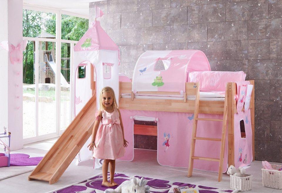 Relita Einzel-/Halbhohes Bett, Set 4-tlg. >>Kim<< in Princess