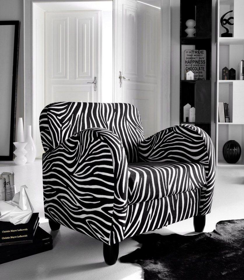 INOSIGN Sessel im Zebra Look in zebrafarben