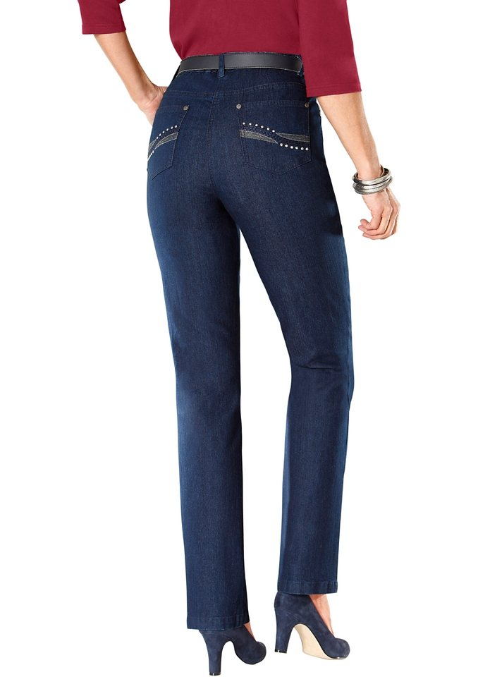 Collection L. Jeans in dark blue