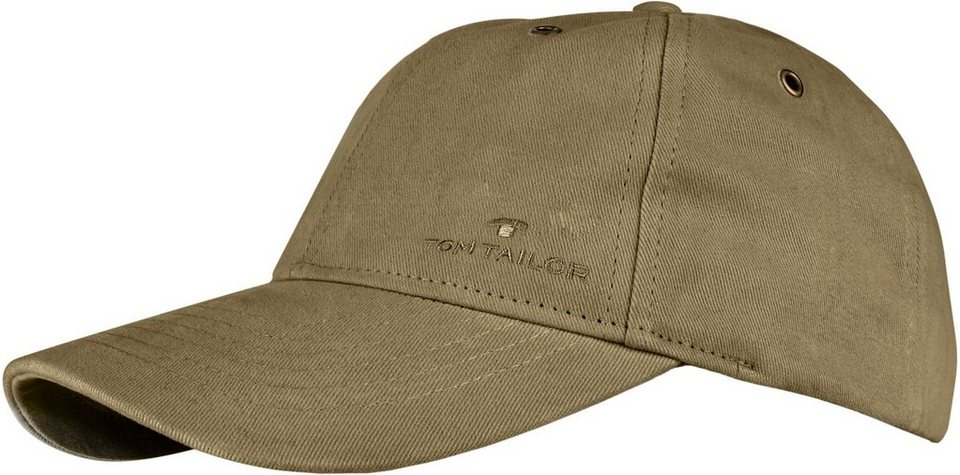 Tom Tailor Baseball Cap mit markanten Steppnähten in khaki