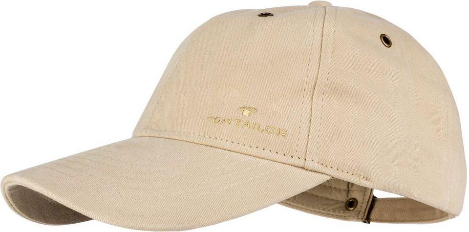 Tom Tailor Baseball Cap mit markanten Steppnähten in beige