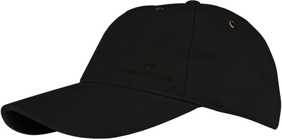 Tom Tailor Baseball Cap mit markanten Steppnähten in schwarz
