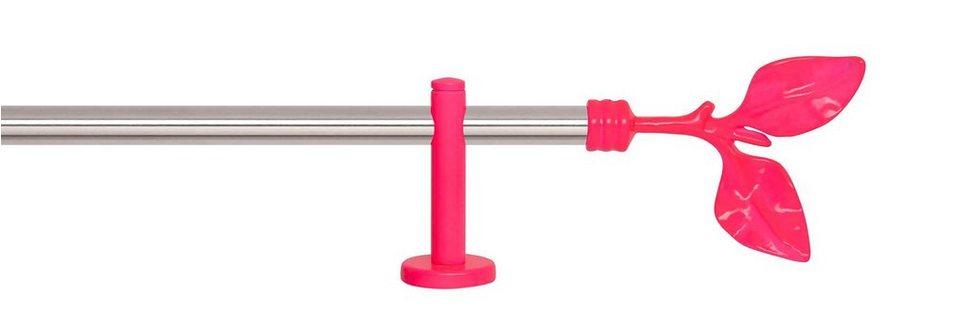 Gardinenstange 1-läufig nach Maß ø 20 mm, Indeko, »Fun Edelstahl« in edelstahlfarben, neon-pink