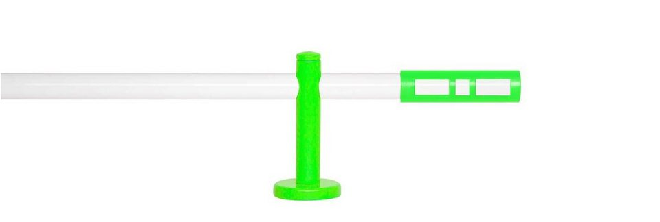 Gardinenstange 1-läufig nach Maß ø 20 mm, Indeko, »Sweet Weiß« in weiss, neon-grün
