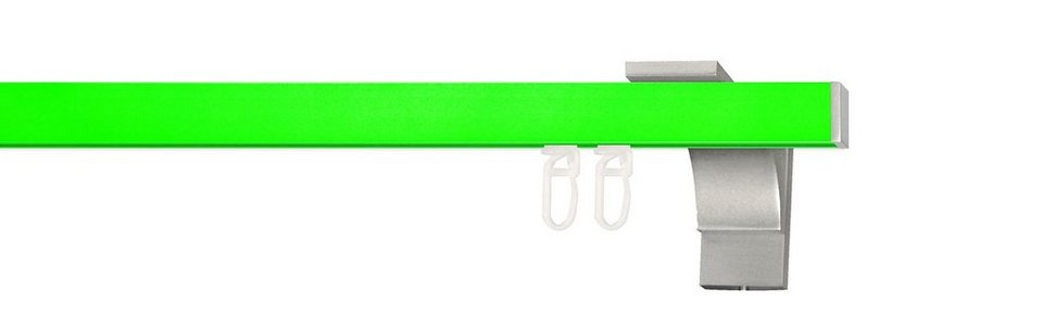 Gardinenstange, Indeko, nach Maß, »Pretty 2« in neon-grün, edelstahl