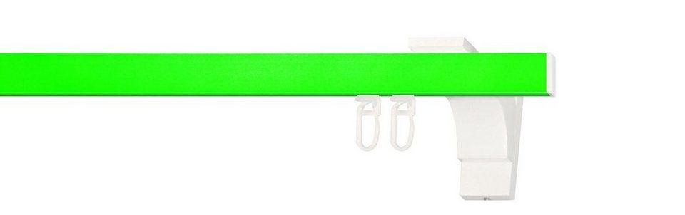 Gardinenstange, Indeko, nach Maß, »Pretty 1« in neon-grün, weiss