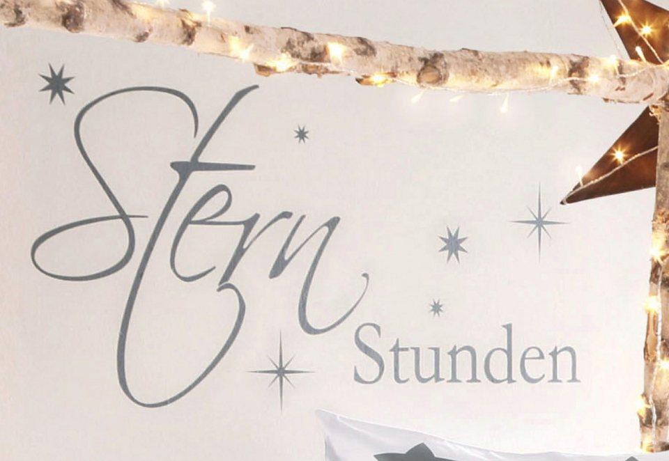 Wandspruch, »Sternstunden« in Dunkelgrau