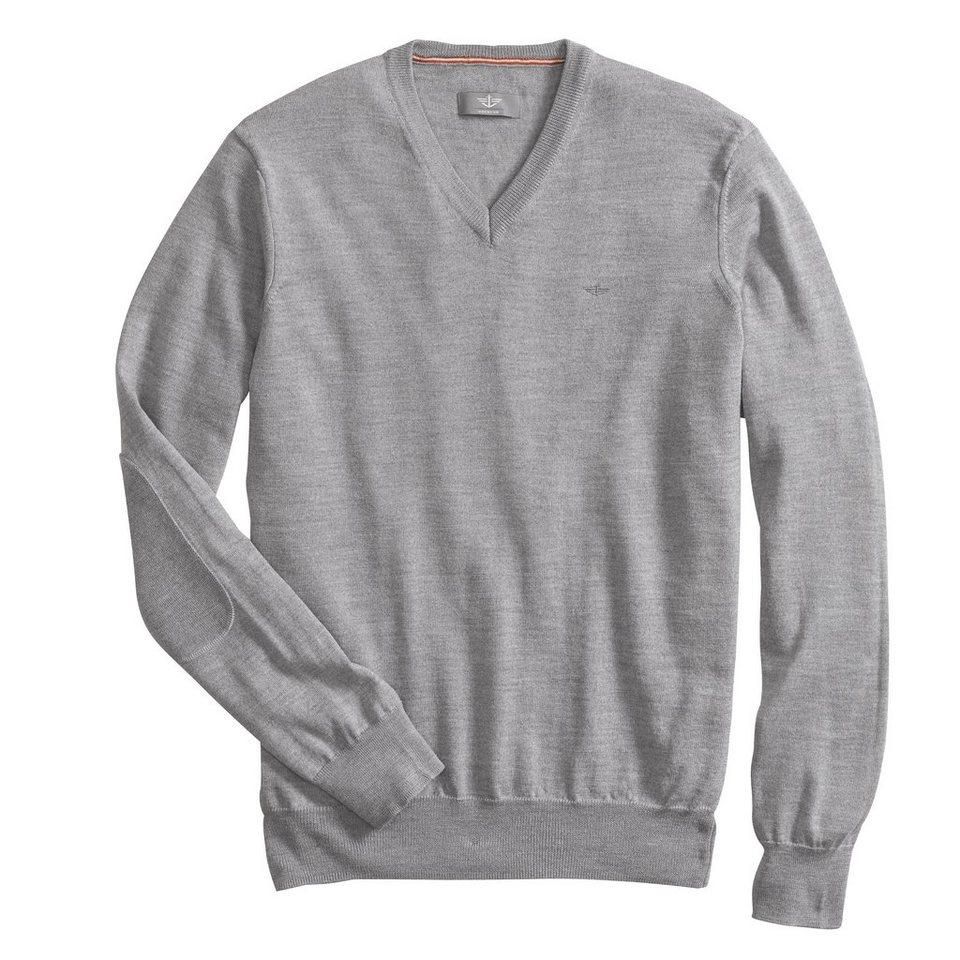 Dockers® Pullover »Merino Fine Gauge V-Neck Sweater« in MEDIUM GRAY HEATHER