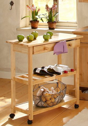 HOME AFFAIRE Virtuvinis staliukas ant ratukų »Dalum...
