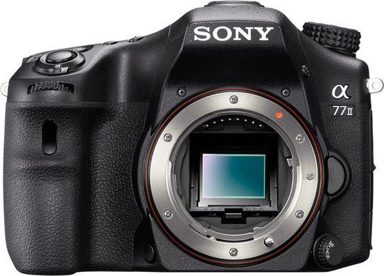 Sony »Alpha ILCA-77M2« Spiegelreflexkamera (24,3 MP, WLAN (Wi-Fi), Gesichtserkennung, HDR-Aufnahme, Smile-Detection, A-Mount Wechselobjektivsystem)