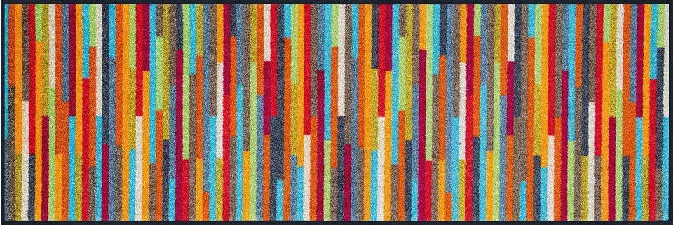 Läufer »Mikado Stripes«, WASH + DRY BY KLEEN-TEX, rechteckig, Höhe 7 mm in bunt