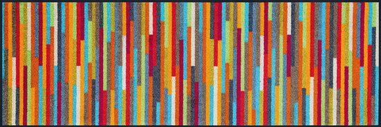 Läufer »Mikado Stripes«, wash+dry by Kleen-Tex, rechteckig, Höhe 7 mm, In- und Outdoor geeignet