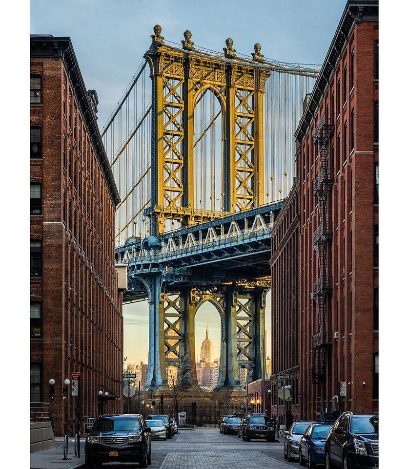 Kinder Tapeten Auf Rechnung : Vlies-Fototapete, Komar, ?Brooklyn?, 184/248 cm in braun/gelb