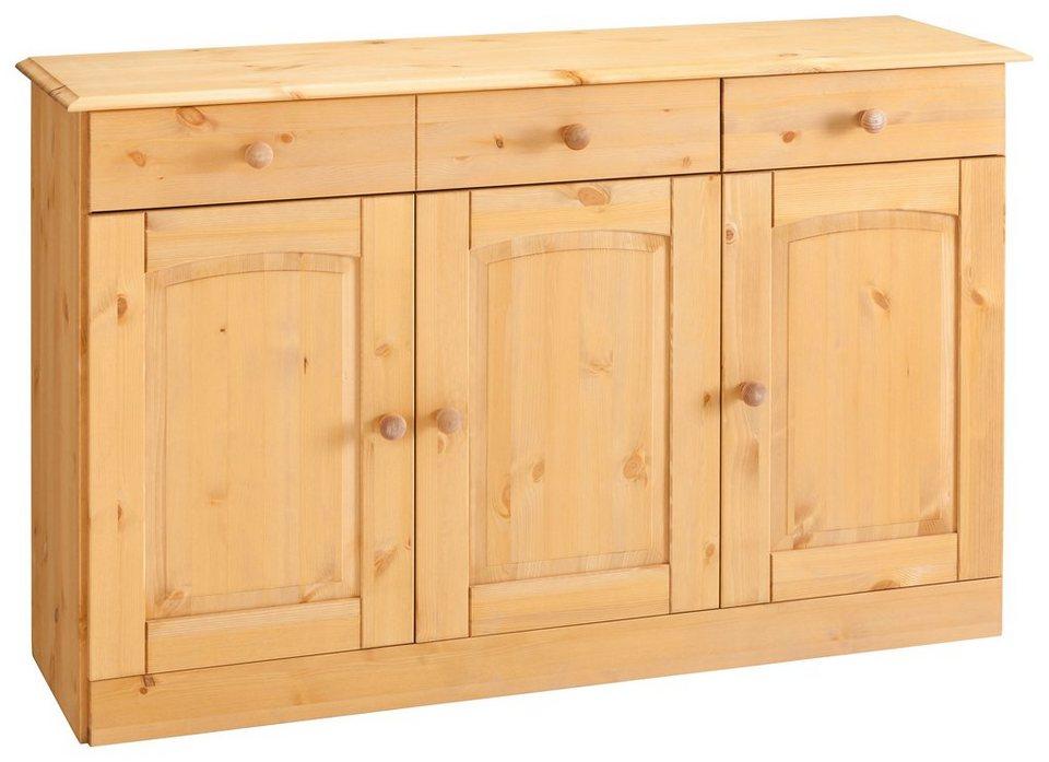 Sideboard »Sylt«, Breite 122 cm in gelaugt/geölt