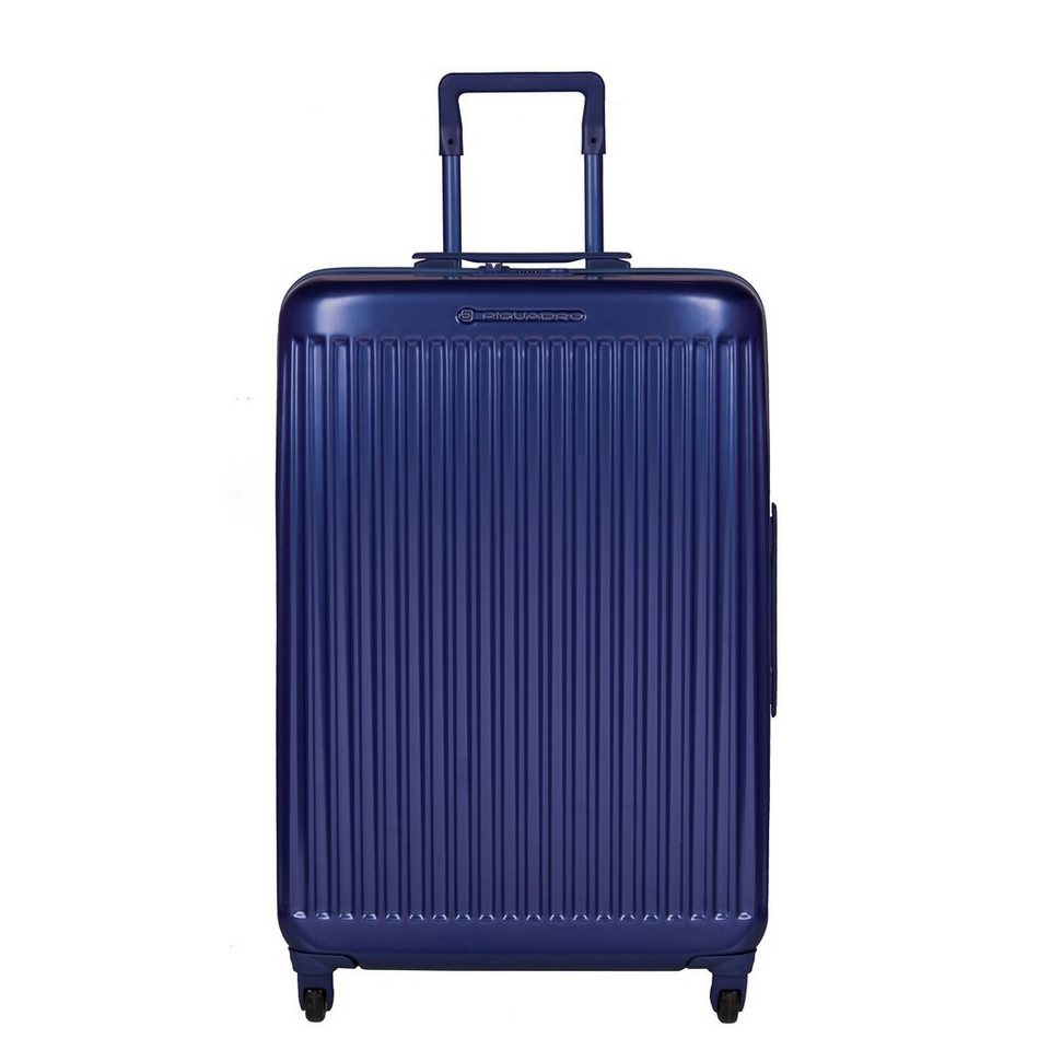 Piquadro Relyght 4-Rollen Trolley 67,5 cm in blue