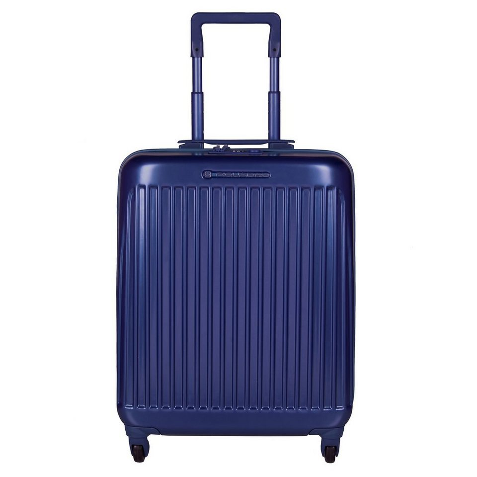 Piquadro Relyght 4-Rollen Kabinentrolley 55 cm in blue