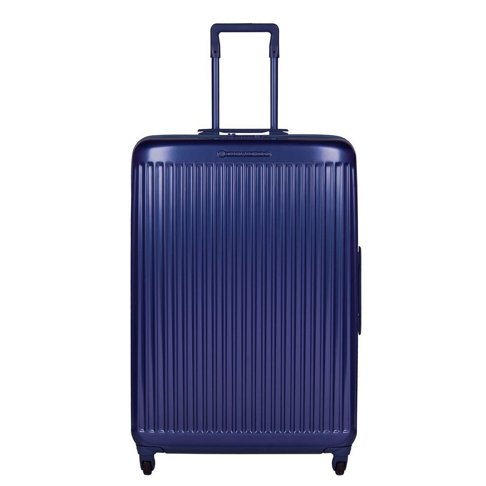 Piquadro Relyght 4-Rollen Trolley 73,5 cm in blue